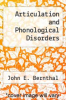 cover of Articulation and Phonological Disorders (3rd edition)