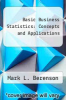 cover of Basic Business Statistics: Concepts and Applications