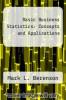 cover of Basic Business Statistics: Concepts and Applications (2nd edition)