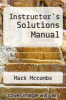 cover of Instructor`s Solutions Manual (6th edition)