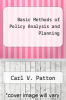 cover of Basic Methods of Policy Analysis and Planning