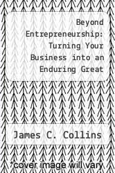 Cover of Beyond Entrepreneurship: Turning Your Business into an Enduring Great Company EDITIONDESC (ISBN 978-0130853660)