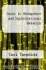 cover of Cases in Management and Ogranizational Behavior