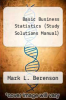 cover of Basic Business Statistics (Study Solutions Manual) (8th edition)
