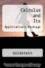 Calculus and Its Applications-Package by Goldstein - ISBN 9780131062115