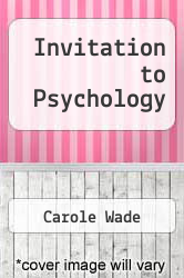 Cover of Invitation to Psychology 2 (ISBN 978-0131275577)
