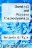 cover of Chemical and Process Thermodynamics