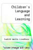 cover of Children`s Language and Learning