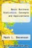 cover of Basic Business Statistics : Concepts and Applications (8th edition)
