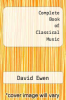cover of Complete Book of Classical Music