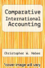 cover of Comparative International Accounting (3rd edition)
