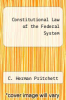 cover of Constitutional Law of the Federal System