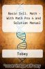 Basic Coll. Math - With Math Pro 4 and Solution Manual by Tobey - ISBN 9780131781627