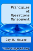 cover of Principles of Operations Management (6th edition)