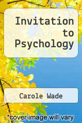 Cover of Invitation to Psychology 3 (ISBN 978-0131898684)