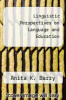 cover of Linguistic Perspectives on Language and Education