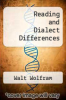 cover of Reading and Dialect Differences