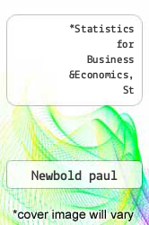 Cover of Statistics for Business &Economics, St 09 (ISBN 978-0132135030)