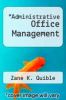 cover of Administrative Office Management