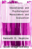cover of Educational and Psychological Measurement and Evaluation (5th edition)