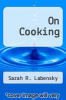 cover of On Cooking (4th edition)