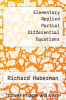 cover of Elementary Applied Partial Differential Equations