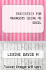 cover of STATISTICS FOR MANAGERS USING MS EXCEL