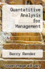cover of Quantatitive Analysis for Management