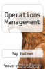 cover of Operations Management (10th edition)