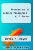 cover of FOUNDATIONS OF LODGING MGMT.-W/ACCESS (2nd edition)