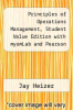 cover of Principles of Operations Management, Student Value Edition with myomLab and Pearson eText (Access Card) (8th edition)