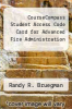 cover of CourseCompass Student Access Code Card for Advanced Fire Administration (1st edition)