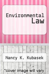 Cover of Environmental Law EDITIONDESC (ISBN 978-0132851077)