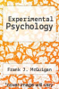 cover of Experimental Psychology (5th edition)