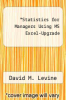 cover of Statistics for Managers Using MS Excel-Upgrade (7th edition)