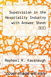Cover of Supervision in the Hospitality Industry with Answer Sheet (EI) 5 (ISBN 978-0133255089)