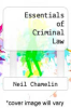 cover of Essentials of Criminal Law