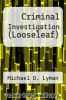 cover of Criminal Investigation (Justice Series), Student Value Edition (2nd edition)