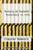 cover of History of England: Prehistory to 1714 (2nd edition)