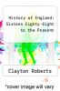 cover of History of England: Sixteen Eighty-Eight to the Present (2nd edition)