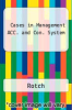 cover of Cases in Management ACC. and Con. System (3rd edition)
