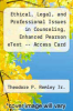 cover of Ethical, Legal, and Professional Issues in Counseling, Enhanced Pearson eText -- Access Card (5th edition)