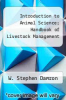 cover of Introduction to Animal Science; Handbook of Livestock Management (5th edition)