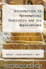 cover of Introduction to Mathematical Statistics and its Applications (6th edition)