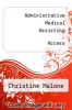 cover of MyHealthProfessionsLab with Pearson eText--Access Card-- for Administrative Medical Assisting (1st edition)