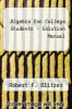 cover of Algebra for College Students-Solution Manual (8th edition)