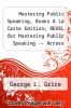 cover of Mastering Public Speaking, Books A La Carte Edition; REVEL for Mastering Public Speaking -- Access Card; Pearson MediaShare -- Valuepack Access Card (9th edition)