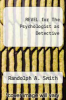 cover of REVEL for The Psychologist as Detective (1st edition)