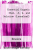 cover of Essential Organic Chemistry Study Guide & Solution Manual, Books a la Carte Edition (3rd edition)