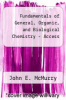 cover of Fundamentals of General, Organic, and Biological Chemistry - Access (8th edition)